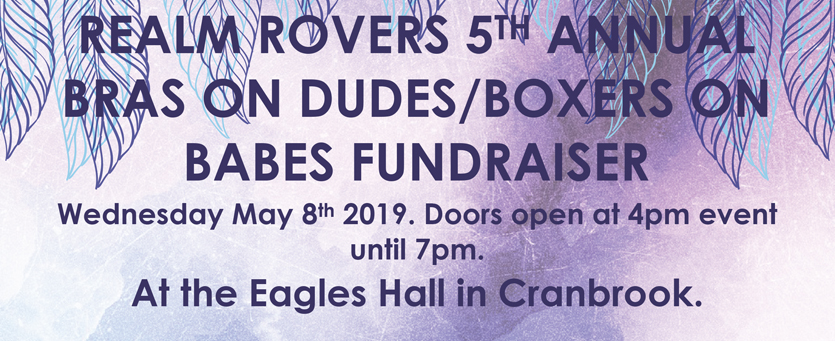 Realm Rovers 5th Annual Fundraiser Wednesday May 8th 2019 4PM