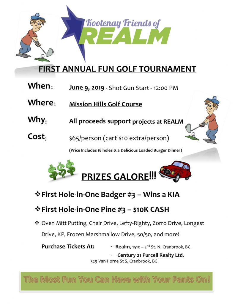 Kootenay Friends of Realm First Annual Golf Tournament