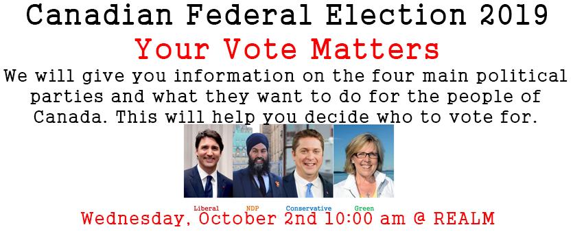 Canadian Federal Election 2019 Informational Presentation Banner