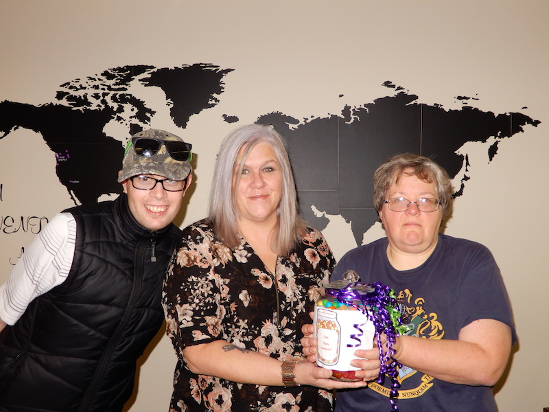 Candy Jar Guessing Game Winner ''Kerry Taylor-Johnson'' (REALM, Cranbrook, BC)