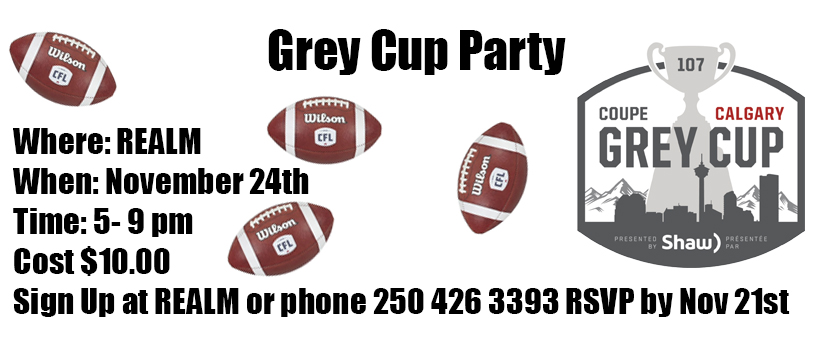 REALM Grey Cup Party 2019 Banner