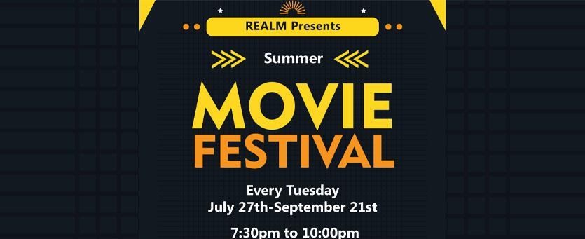 REALM Summer Movie Fest 2021 Banner