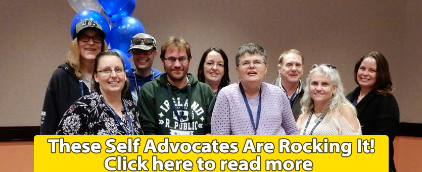 Banner linking to a article about the Self Advocates of the Rockies rocking it.